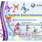 """3D 17th English Activity""entertainment"